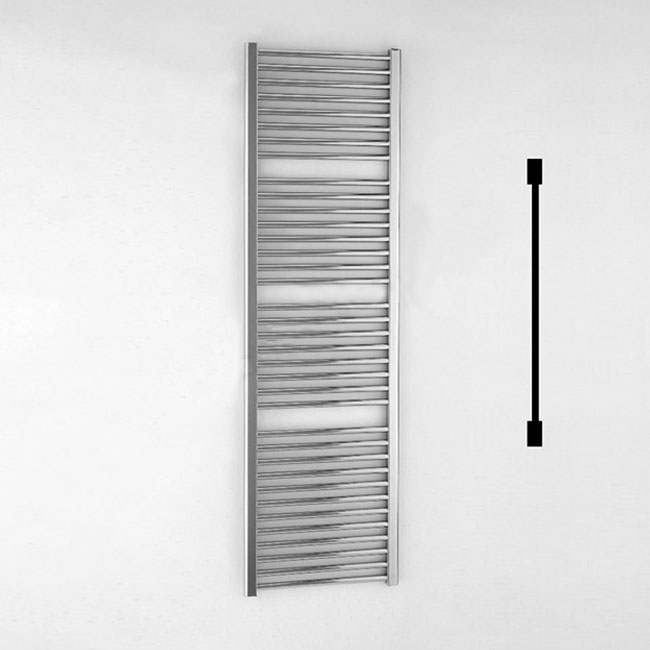 Duchy Standard Straight Towel Rail 1700mm H X 500mm W - Chrome