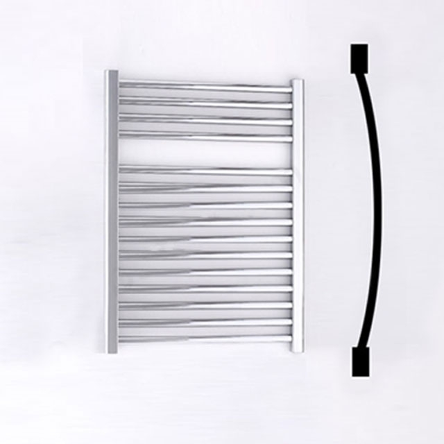 Duchy Standard Curved Towel Rail 690mm H X 500mm W - Chrome
