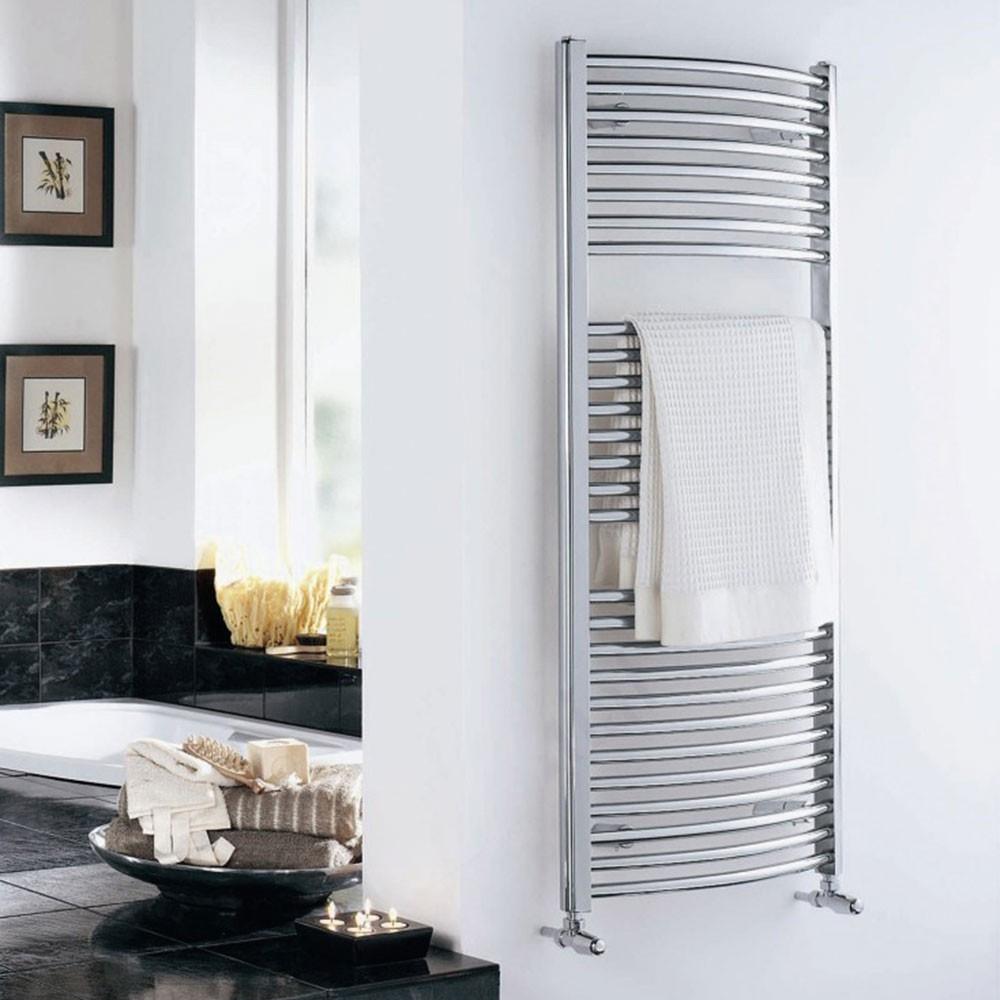 Duchy Standard Curved Towel Rail 1700mm H X 500mm W - Chrome