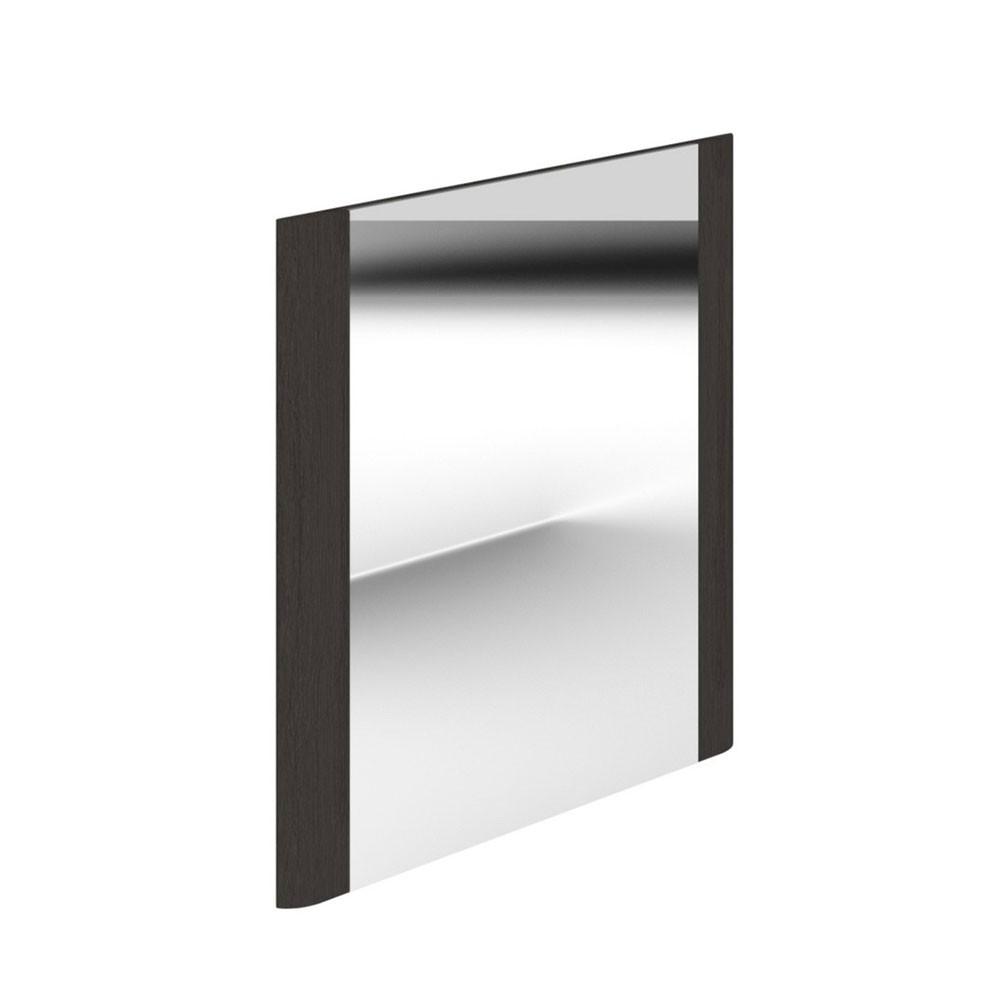 Duchy Vermont Square Bathroom Mirror, 600mm Wide, Dark Grey