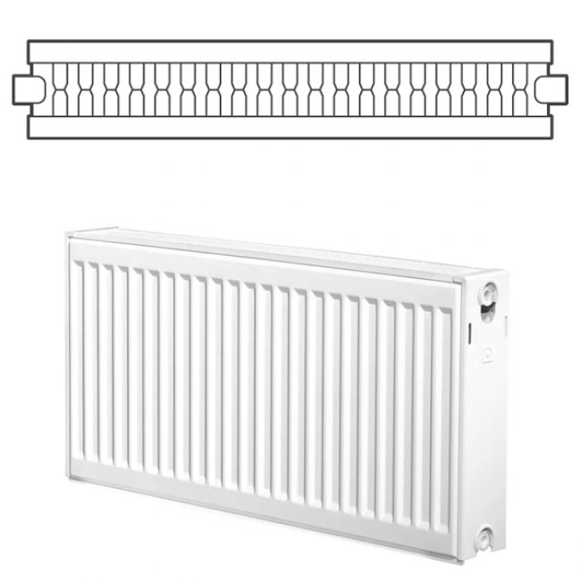 Heatline EcoRad Compact Radiator 300mm H x 1000mm W Double Convector