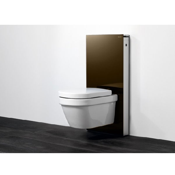 Geberit Monolith Back to Wall Toilet Frame for Wall Hung WC 1010mm H - Umber