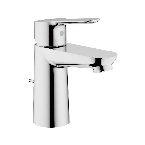 Grohe BauEdge Basin Mixer Tap with Pop-up Waste - Chrome
