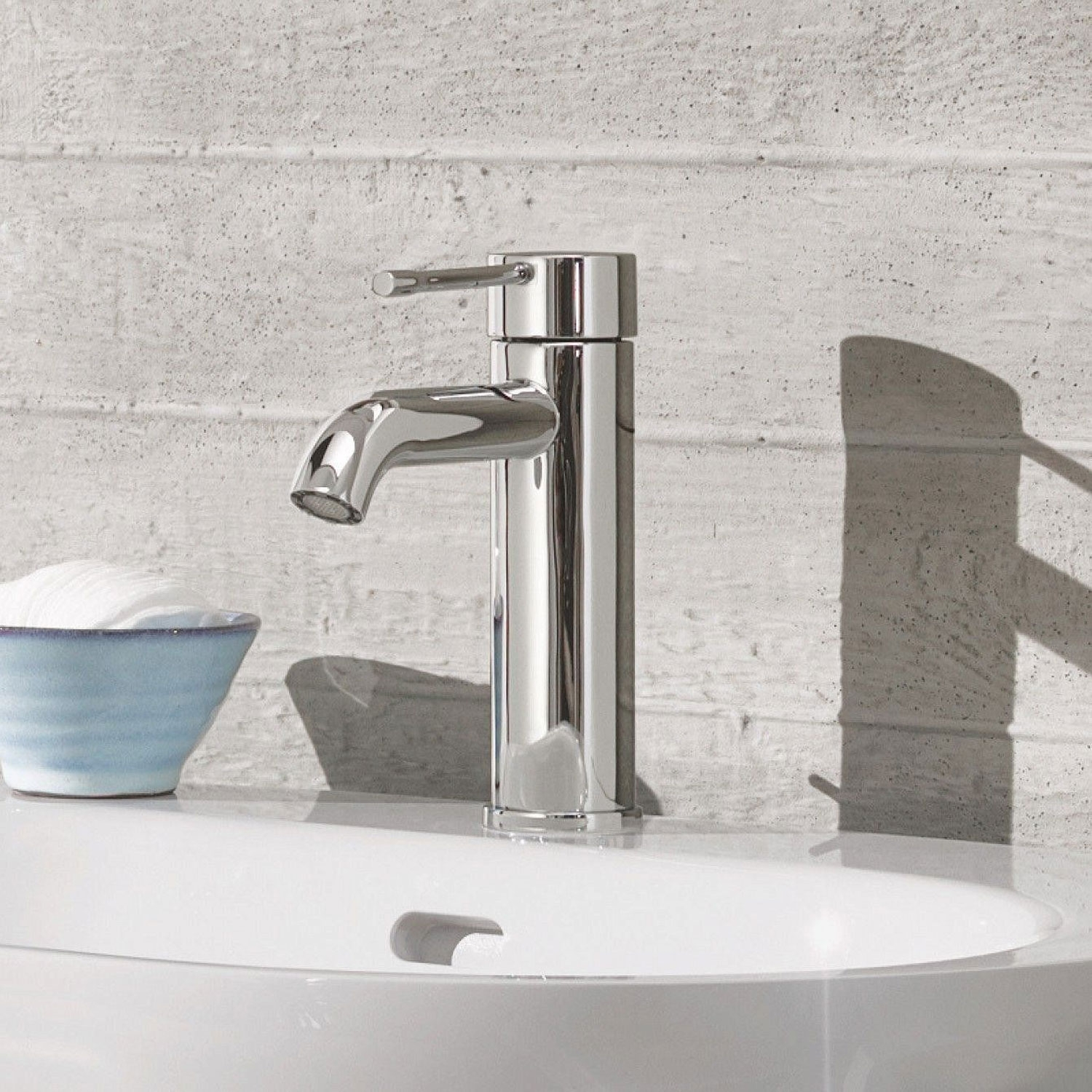 Grohe Essence Deck Mounted Mini Basin Mixer Tap - Chrome