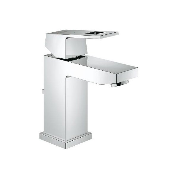 Grohe Eurocube S-Size Single Lever Basin Mixer Tap with Pop-up Waste - Chrome
