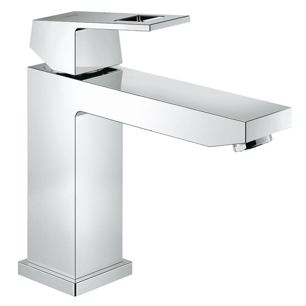 Grohe Eurocube Deck Mounted M-Size Basin Mixer Tap - Chrome