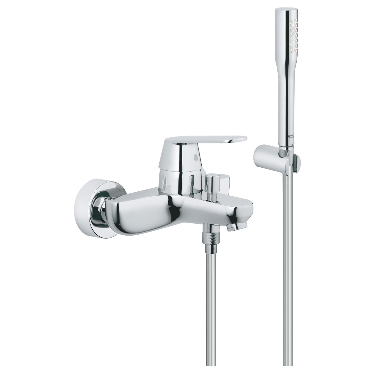 Grohe Eurosmart Cosmo Bath Shower Mixer Tap with Kit Wall Mounted - Chrome