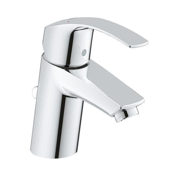 Grohe Eurosmart S-Size Basin Mixer Tap with Pop Up Waste - Chrome-0