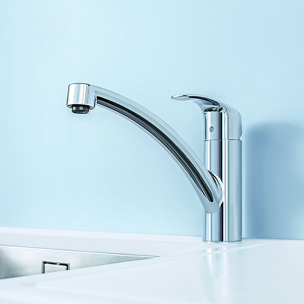 Grohe Eurosmart Monobloc Kitchen Sink Mixer - Low Spout - Chrome