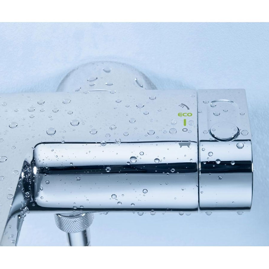 Grohe Grohtherm 2000 New Bath Shower Mixer Tap S-Unions Wall Mounted - Chrome-2
