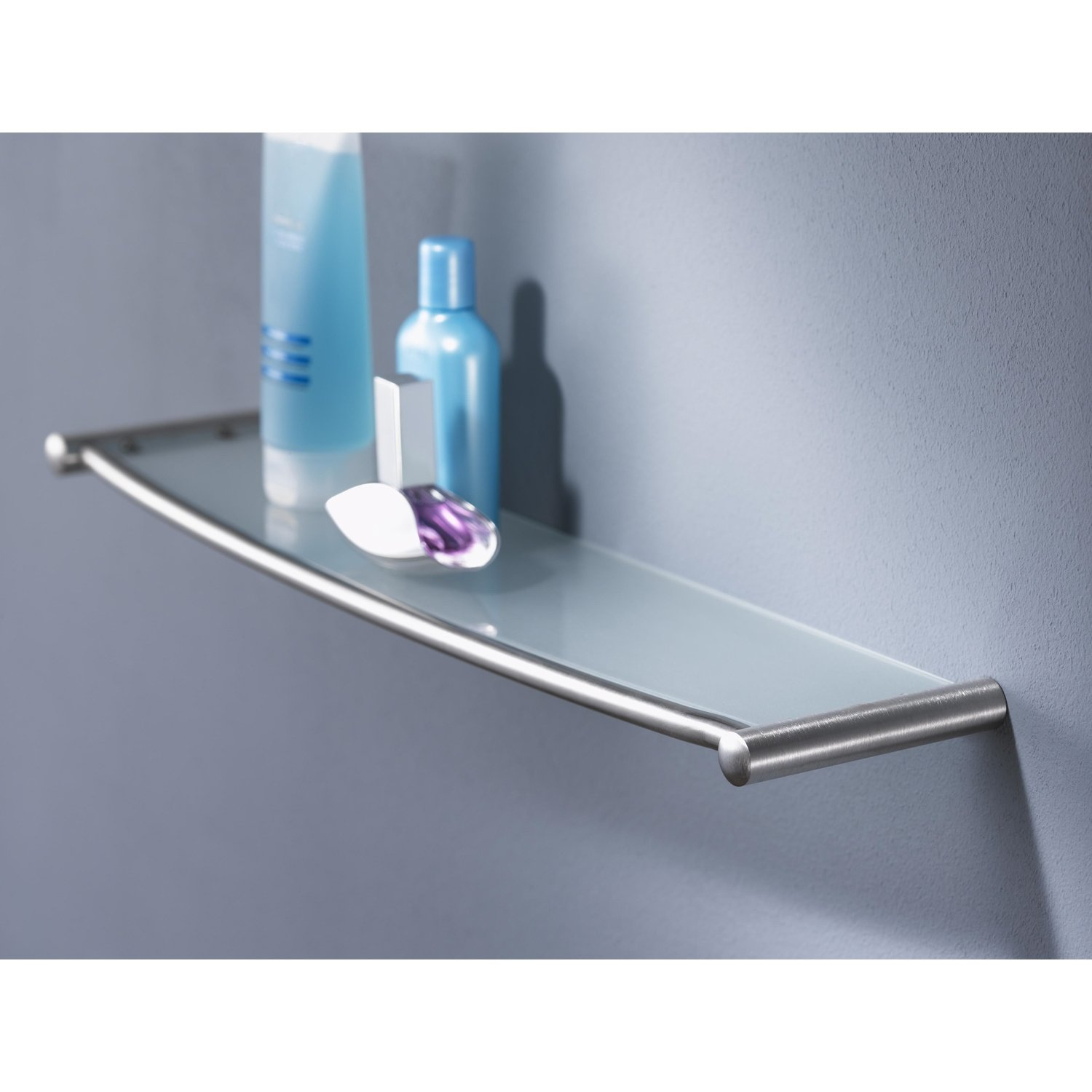 Haceka Silence Glass Shelf 600mm Wide - Chrome-0