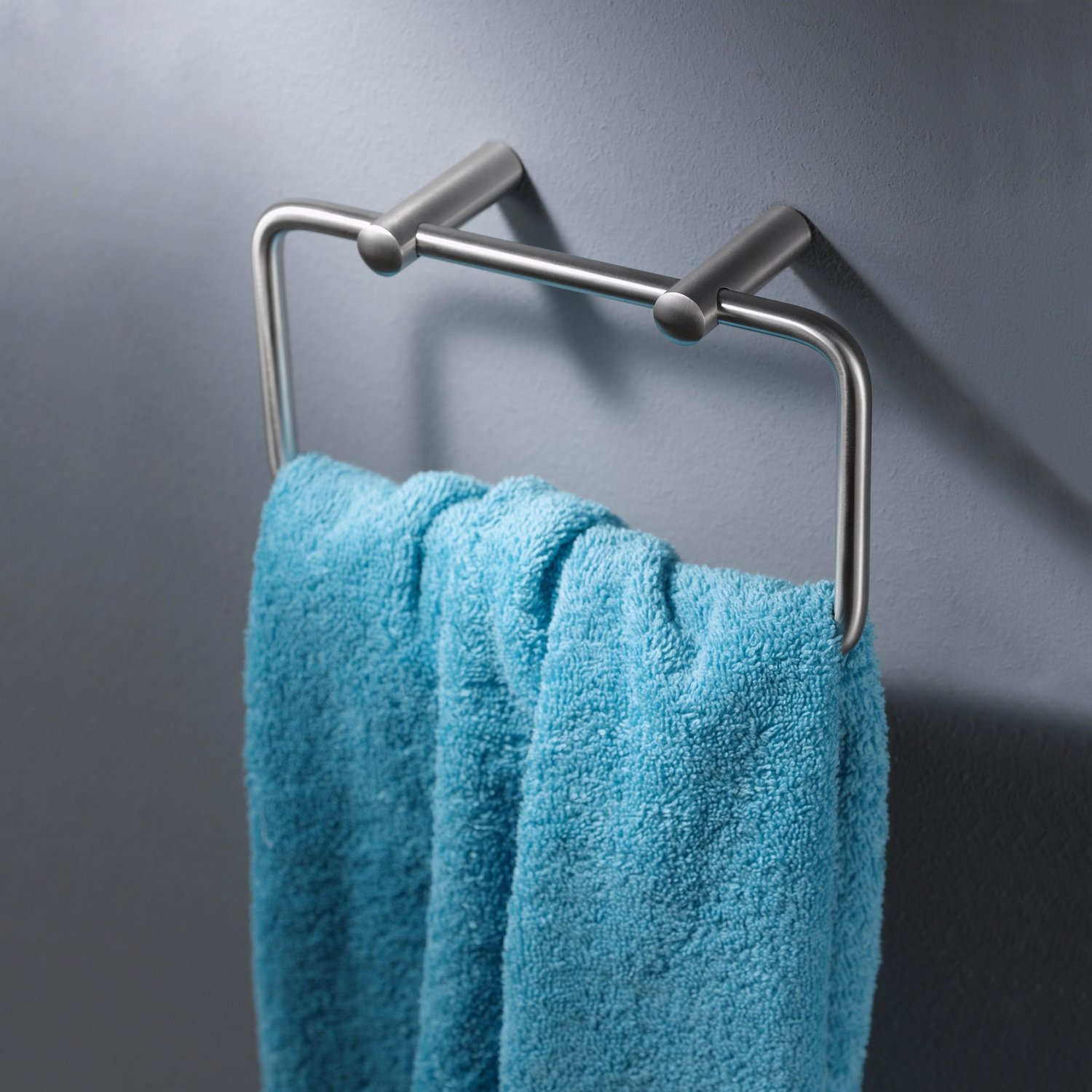 Haceka Silence Modern Towel Ring - Chrome