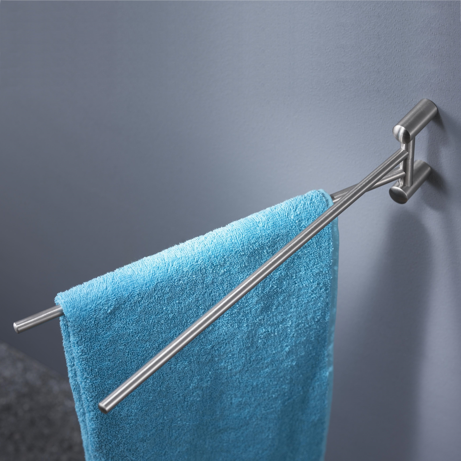 Haceka Silence Adjustable Towel Rail - Chrome
