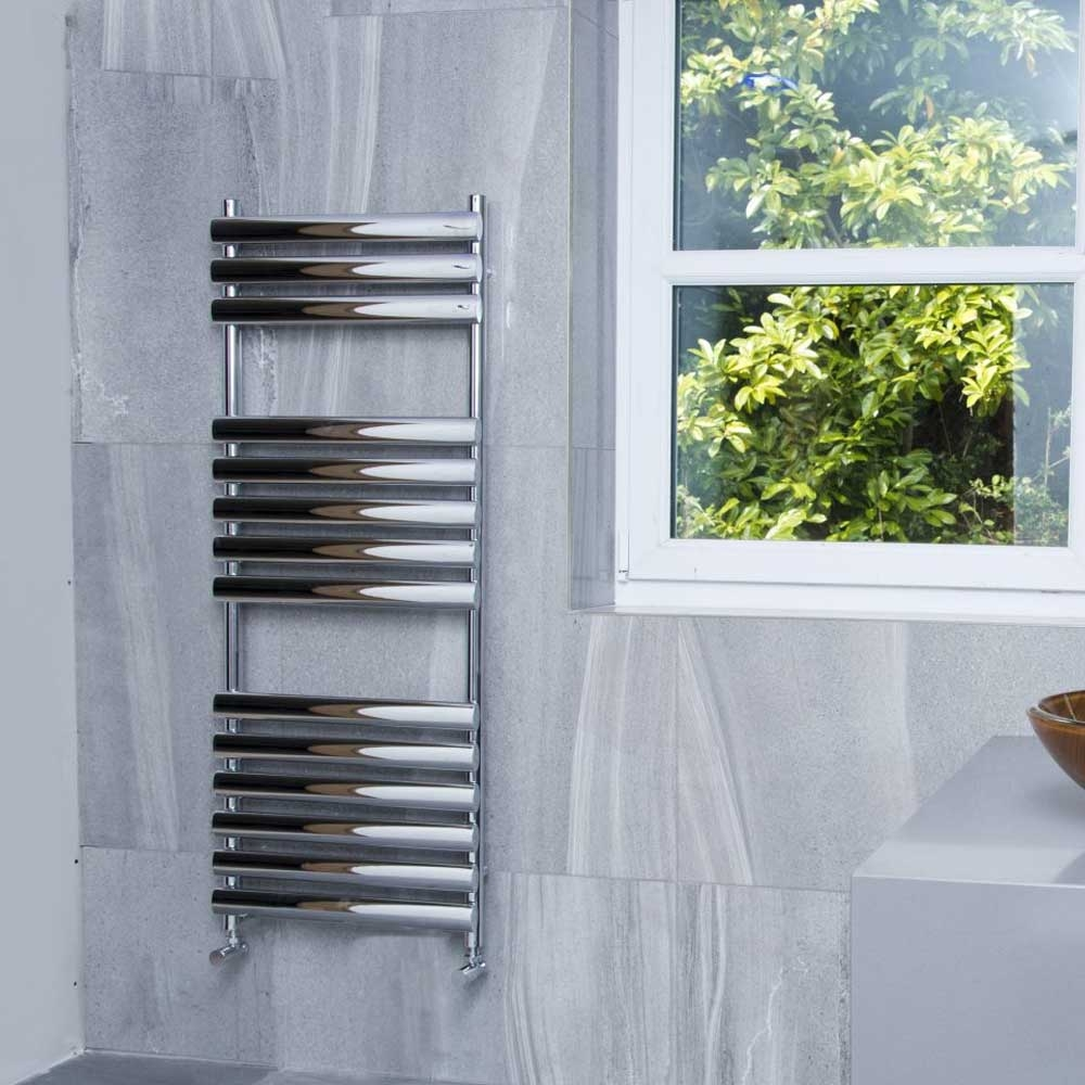 Heatwave Dorney Designer Heated Towel Rail 800mm H x 500mm W - Chrome
