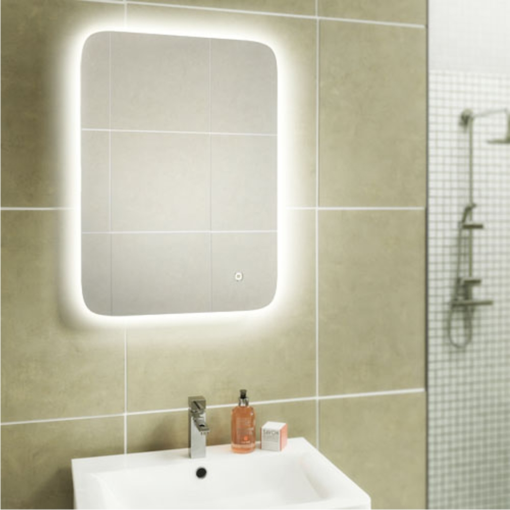 HiB Ambience 90 Steam Free LED Bathroom Mirror 600mm H x 900mm W