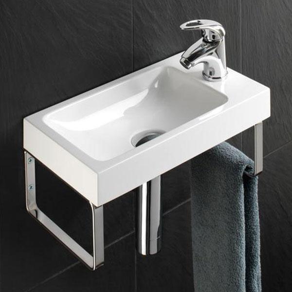 HiB Delta Washbasin 400mm Wide x 220mm Deep