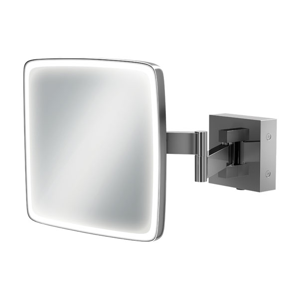 HiB Eclipse Led Magnifying Mirror with Rocker Switch - Square