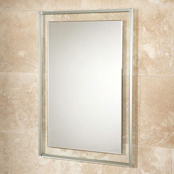 HiB Georgia Designer Bathroom Mirror 700mm H x 500mm W-0