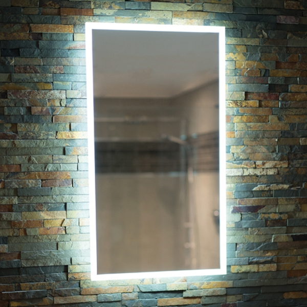 HiB Globe 45 Steam Free LED Bathroom Mirror 800mm H x 450mm W