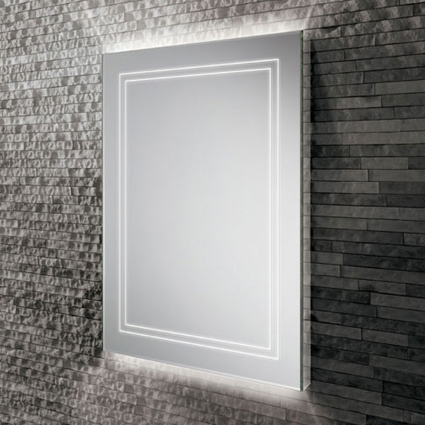 HiB Outline 60 LED Back-Lit Bathroom Mirror 600mm H x 800mm W