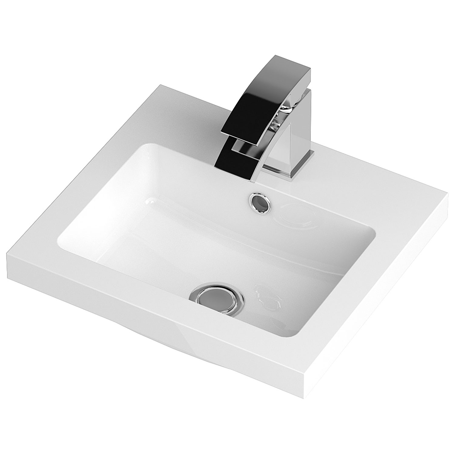 Hudson Reed Apollo Floor Standing Vanity Unit and Basin 405mm Wide Gloss Cashmere 1 Tap Hole