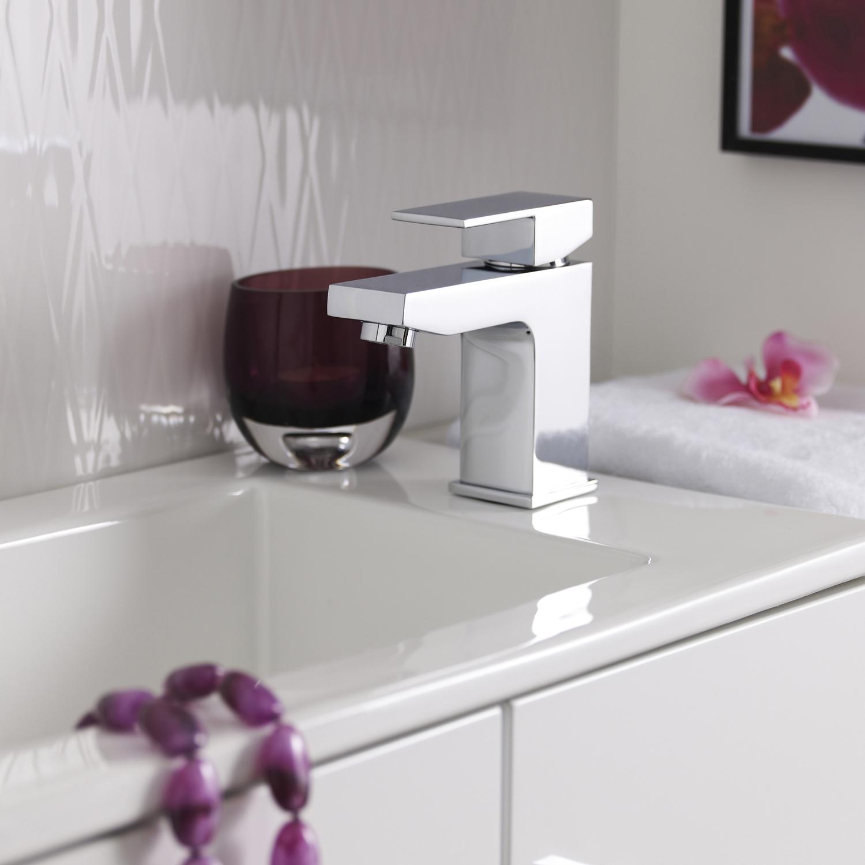 Hudson Reed Art Mono Basin Mixer Tap and Bath Filler Tap, Chrome
