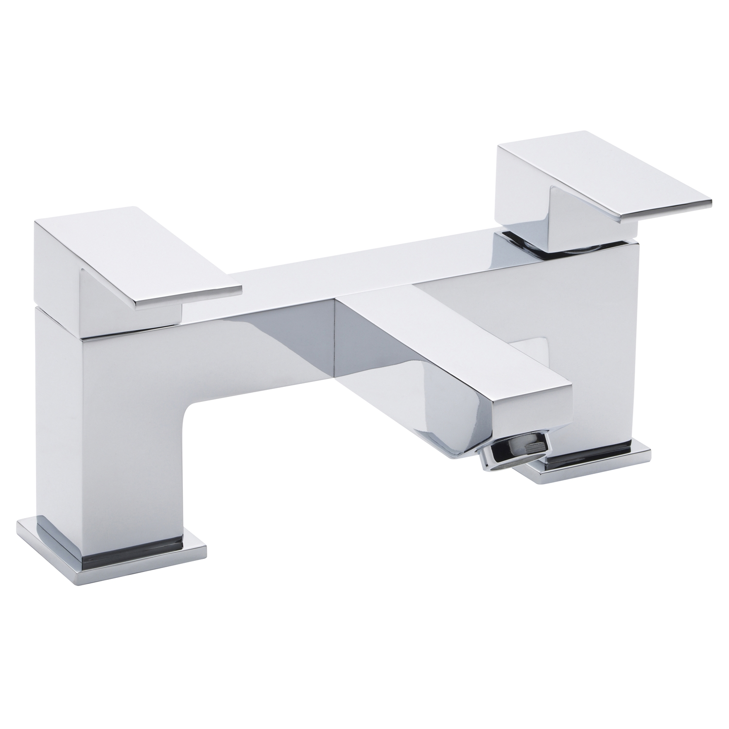 Hudson Reed Art Mono Basin Mixer Tap and Bath Filler Tap, Chrome-1
