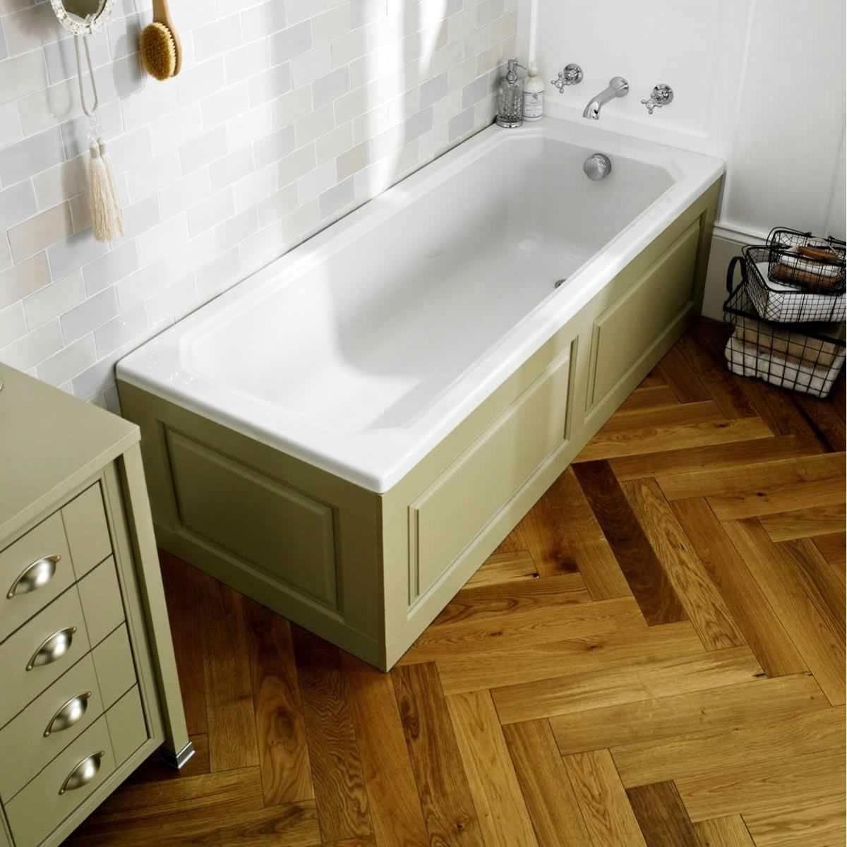 Hudson Reed Ascott Single Ended Bath 1700mm x 700mm - White