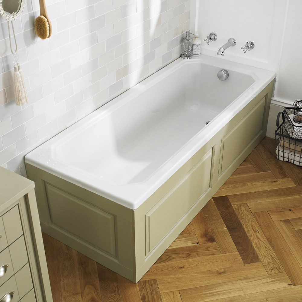 Hudson Reed Ascott Single Ended Bath 1700mm x 750mm - White-0