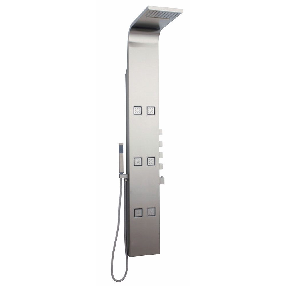 Hudson Reed Astral Dream Thermostatic Shower Tower Panel 6 Jets - Stainless Steel-0