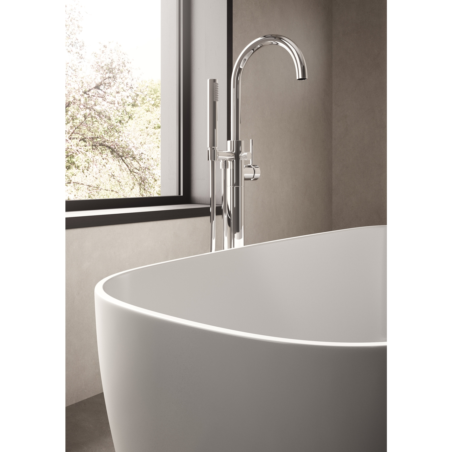 Hudson Reed Bella Freestanding Bath 1495mm x 721mm - White-1