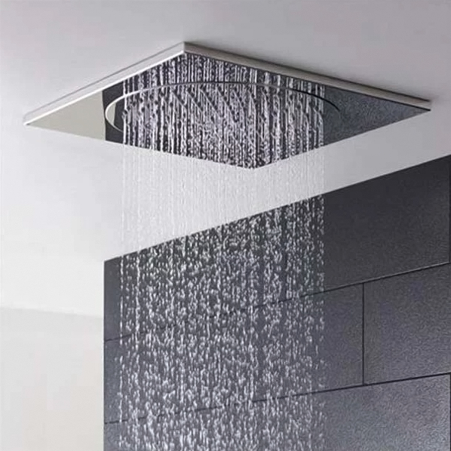 Hudson Reed Ceiling Tile Square Fixed Shower Head, 270mm x 270mm, Chrome-0