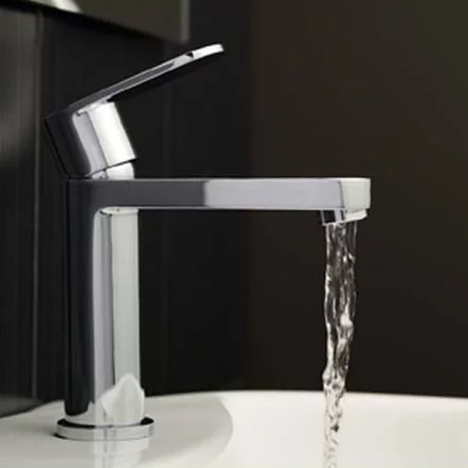 Hudson Reed Cloud 9 Mono Basin Mixer Tap Single Handle with Push Button Waste - Chrome-1