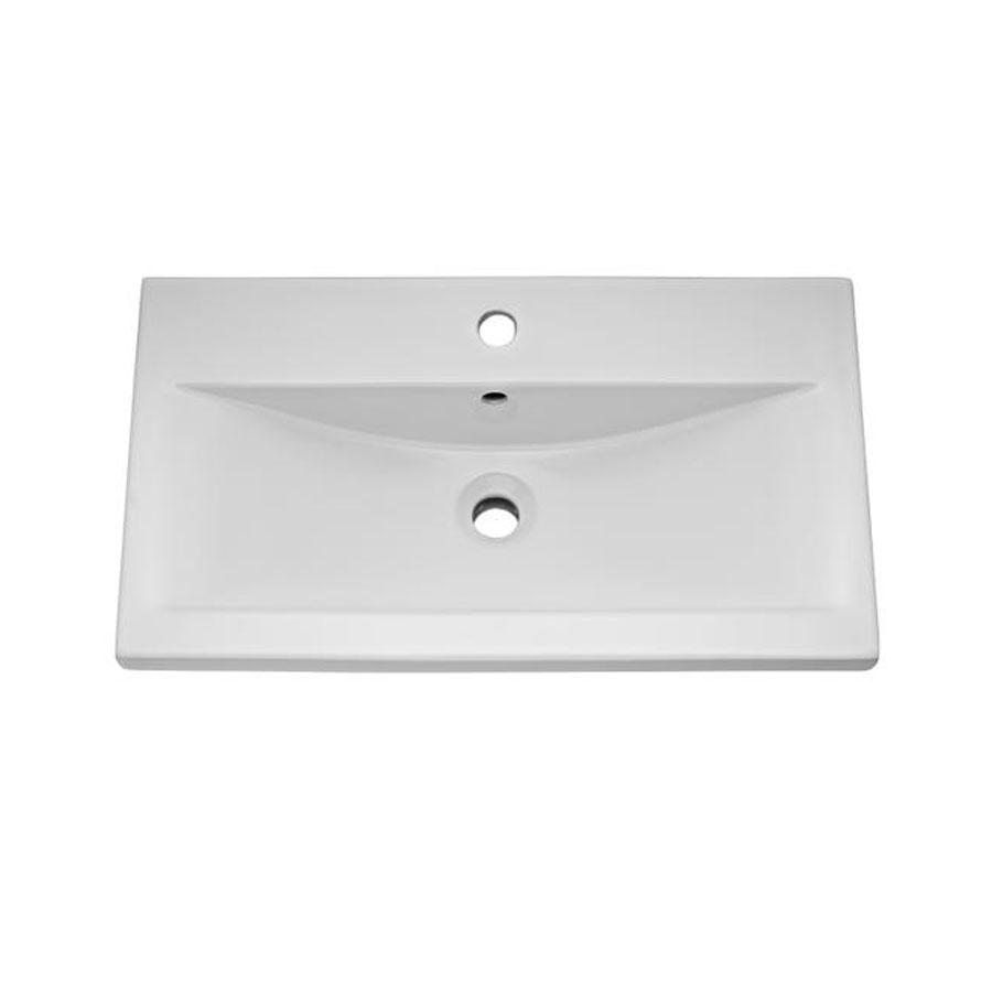 Hudson Reed Coast 1 Wall Hung Vanity Unit and Basin 1 White - 800mm Wide