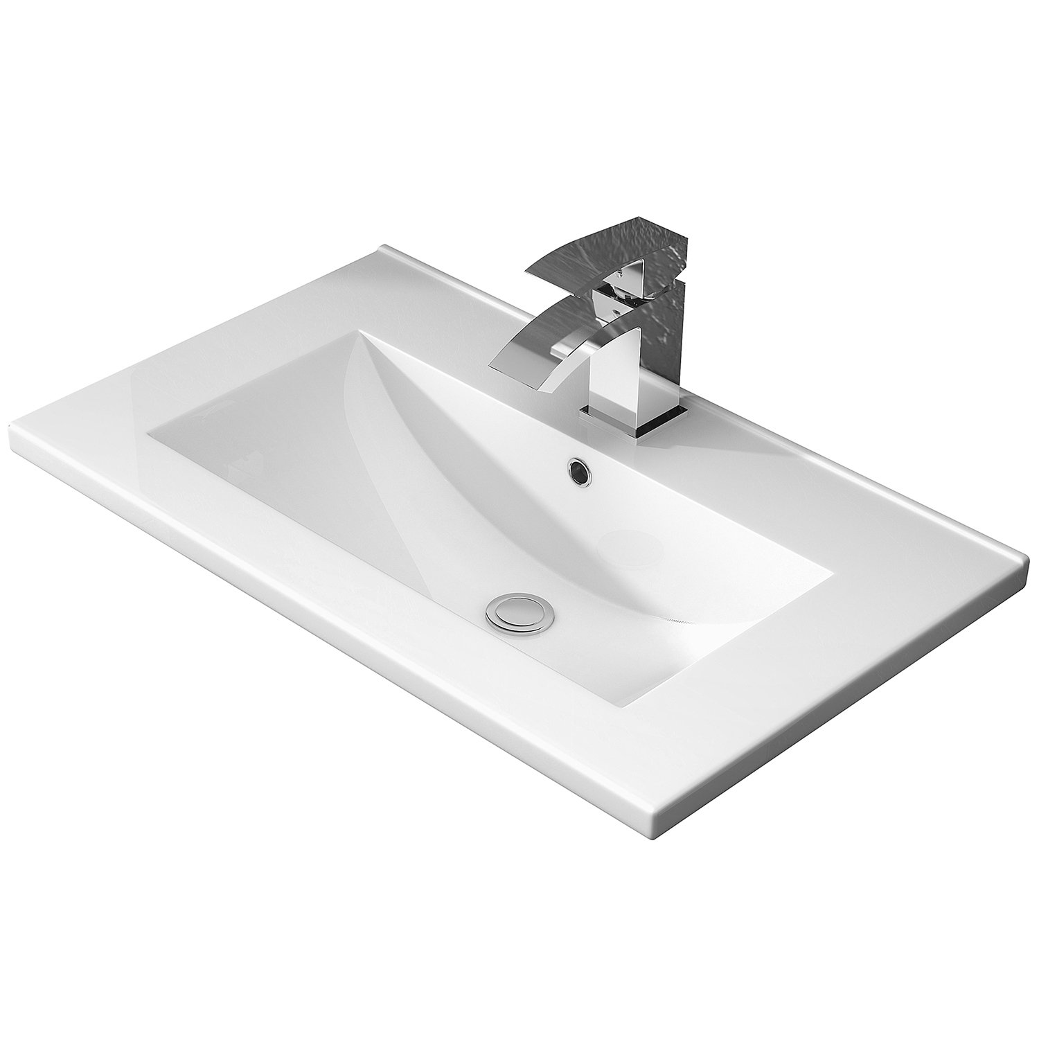 Hudson Reed Coast 2 Floor Standing Vanity Unit and Basin 2 White - 600mm Wide