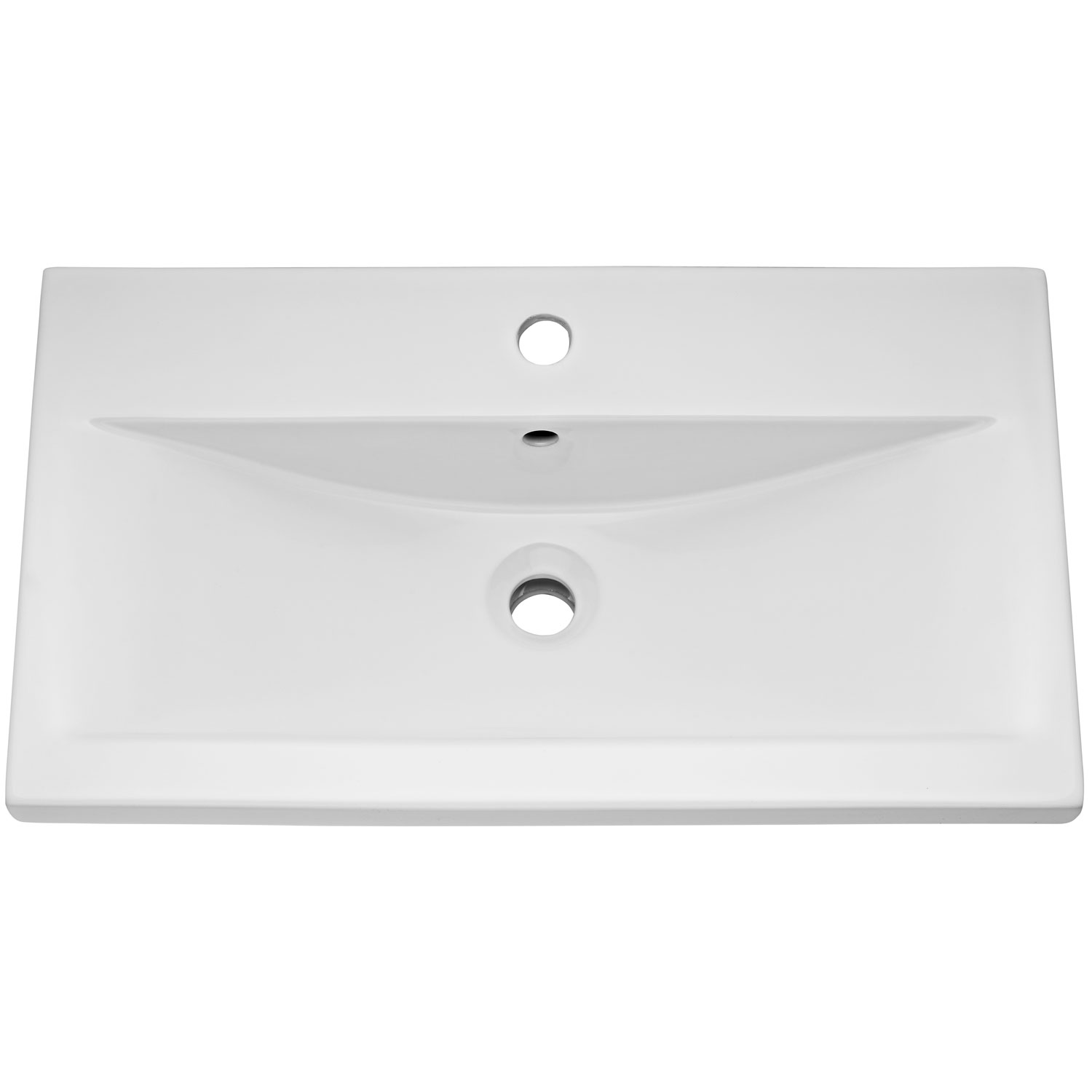 Hudson Reed Coast 1 Wall Hung Vanity Unit and Basin 1 White - 600mm Wide