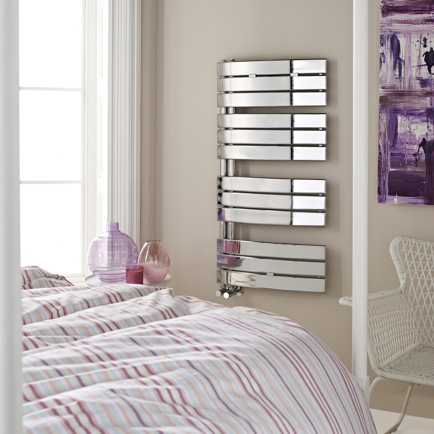 Hudson Reed Elgin Designer Heated Towel Rail 1080mm H x 550mm W Chrome