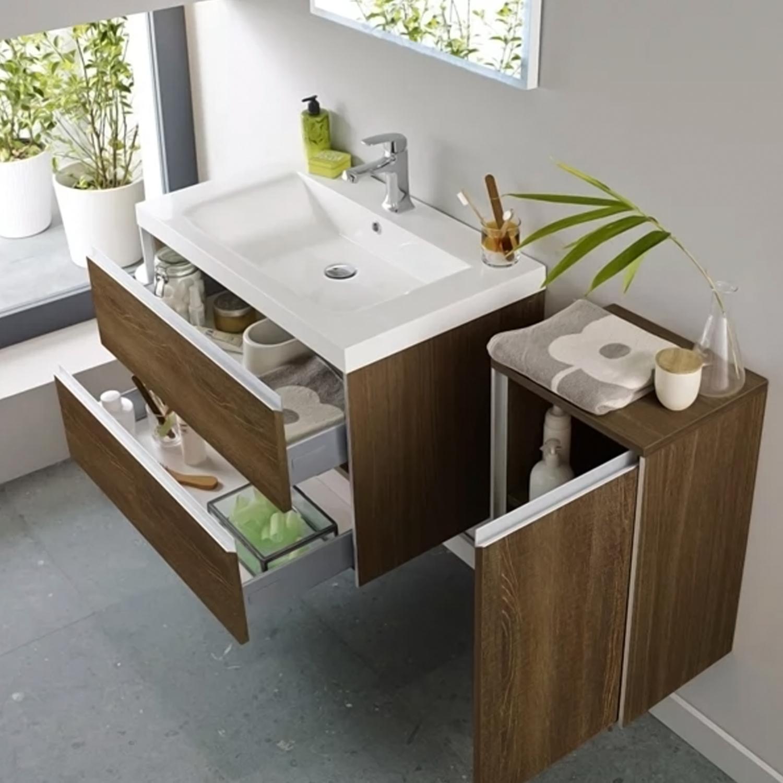 Hudson Reed Erin Furniture Pack, Textured Oak