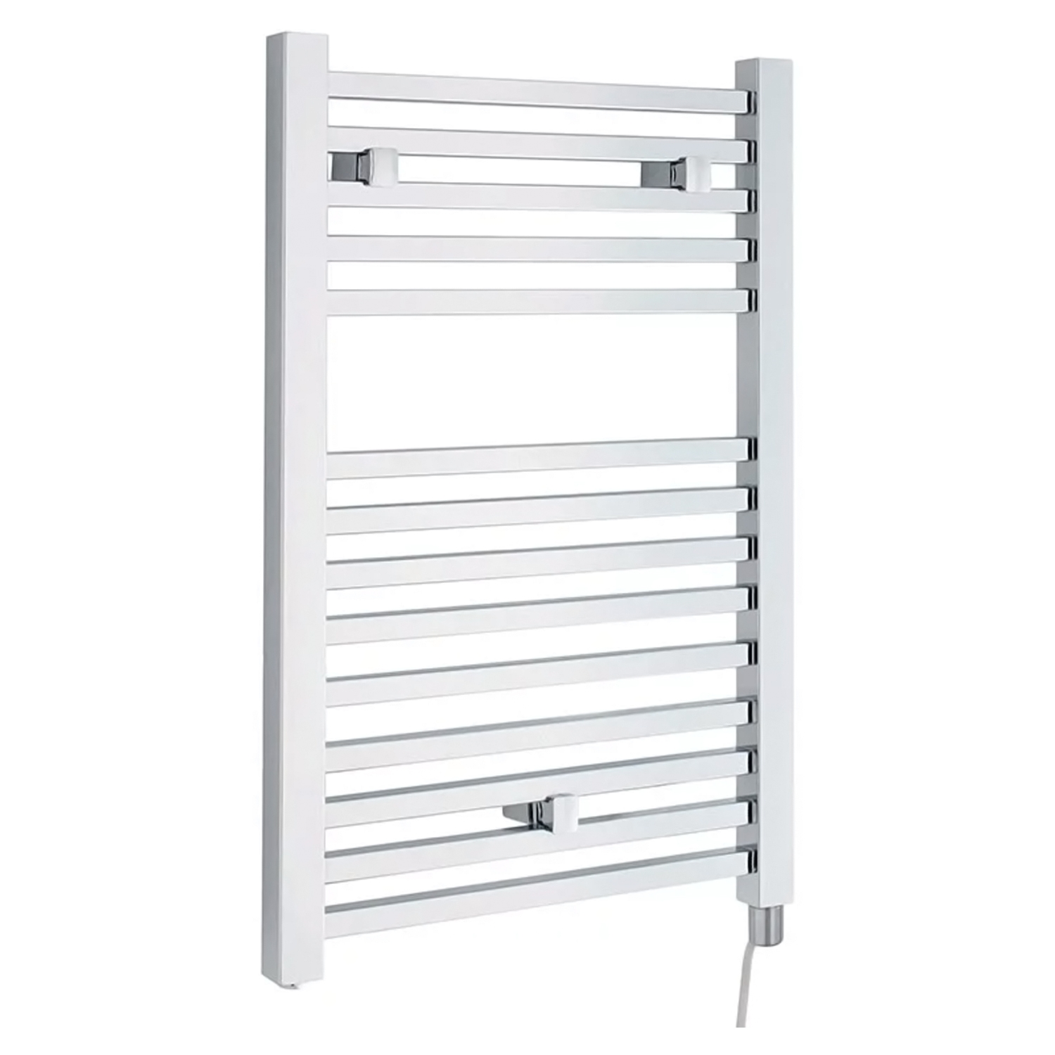 Hudson Reed Eton Electric Heated Towel Rail 690mm H x 500mm W - Chrome