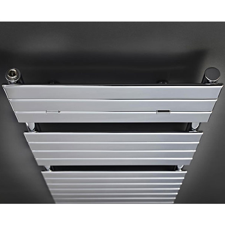 Hudson Reed Flat Panel Designer Heated Towel Rail 1213mm H x 500mm W White-0