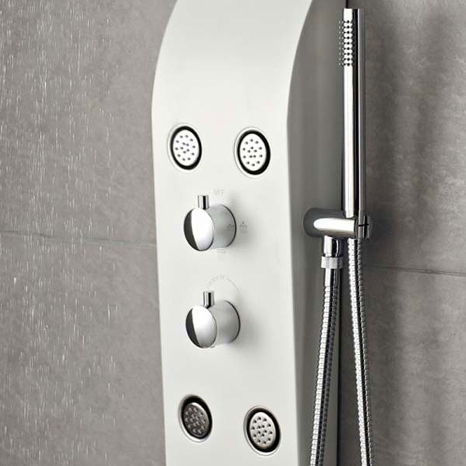 Hudson Reed Glacier Dream Thermostatic Shower Tower Panel 6 Jets - White-2