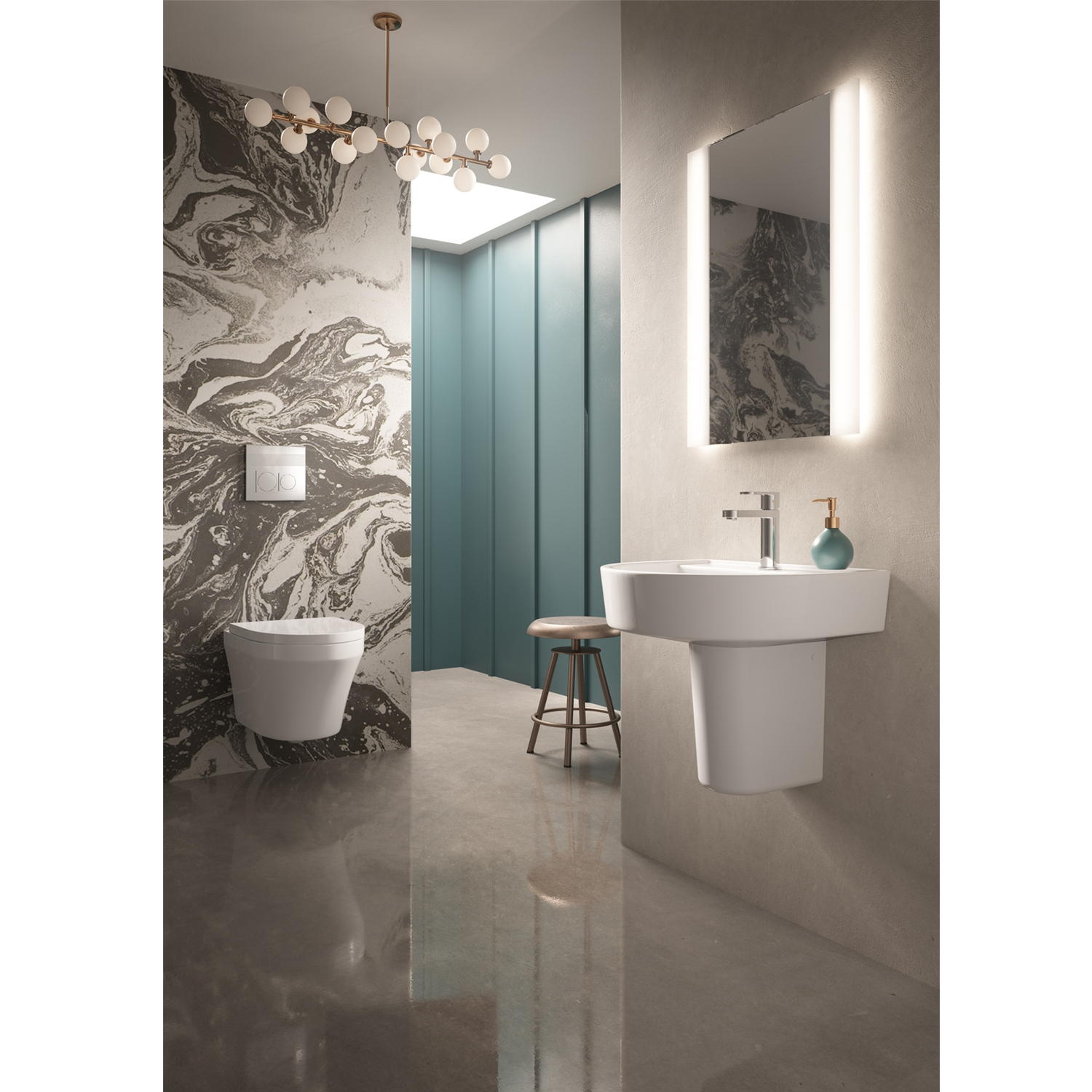 Hudson Reed Glamour Bathroom Mirror 700mm H x 500mm W