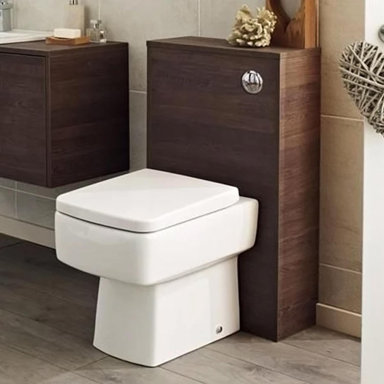 Hudson Reed Horizon Back to Wall WC Toilet Unit 504mm Wide Mid Sawn Oak