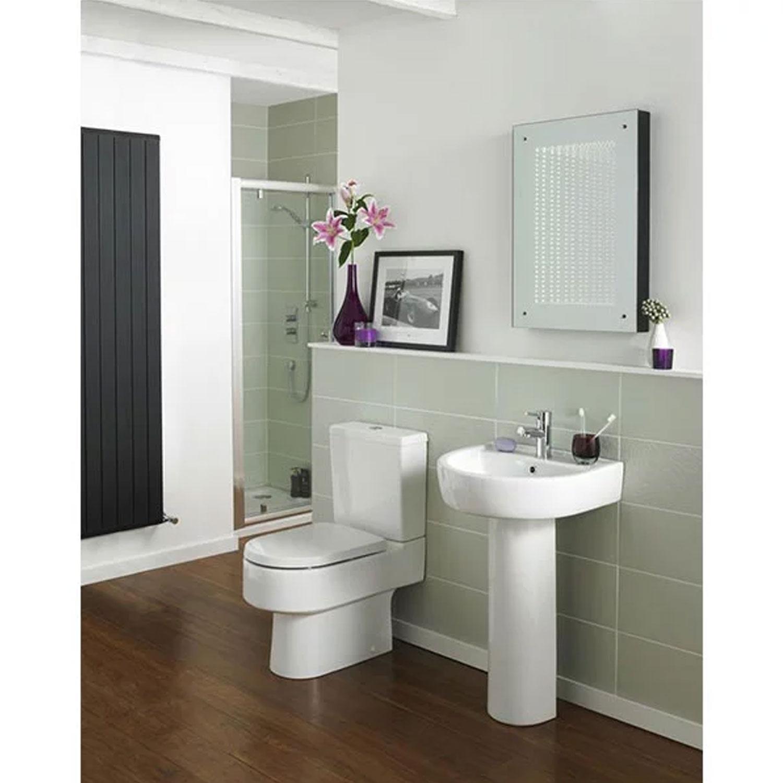 Hudson Reed Infinity Rectangular Bathroom Mirror 700mm H x 500mm W - Silver-0