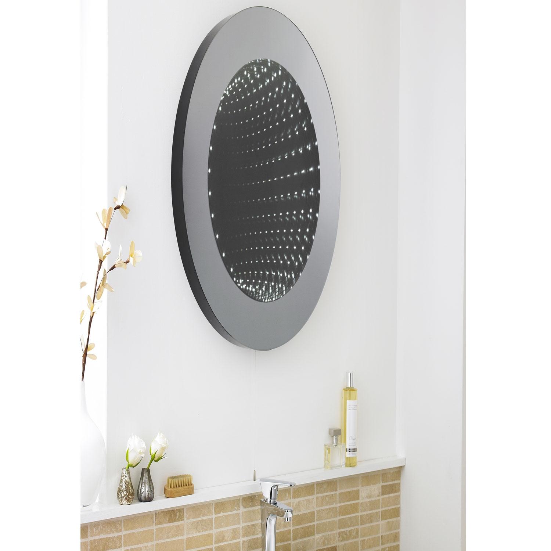 Hudson Reed Infinity Round Bathroom Mirror 600mm Diameter