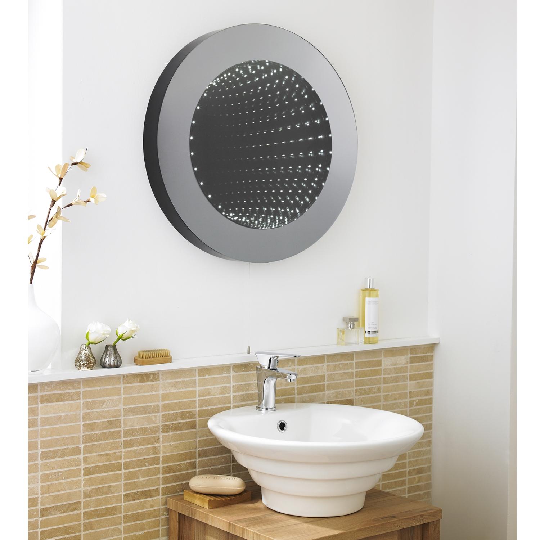 Hudson Reed Infinity Round Bathroom Mirror 600mm Diameter-0