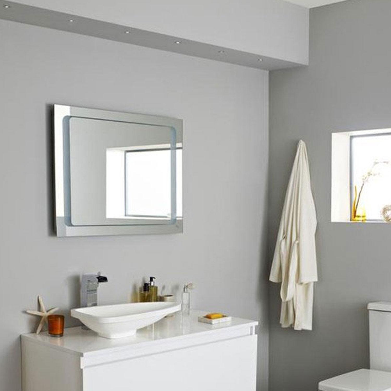 Hudson Reed Insight Motion Sensor & Demister Bathroom Mirror, 600mm H x 800mm W-0