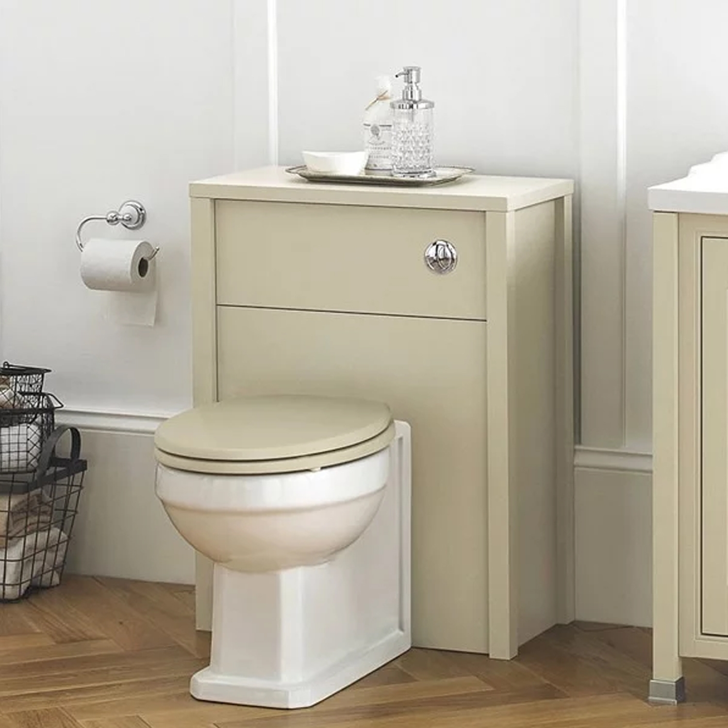 Hudson Reed Ivory Back to Wall WC Toilet Unit 595mm Wide Front Access