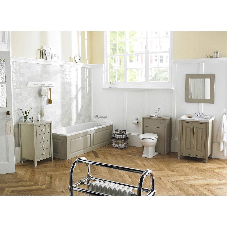 Hudson Reed Ivory Bathroom Vanity Unit & Basin 800mm Wide 1 Tap Hole