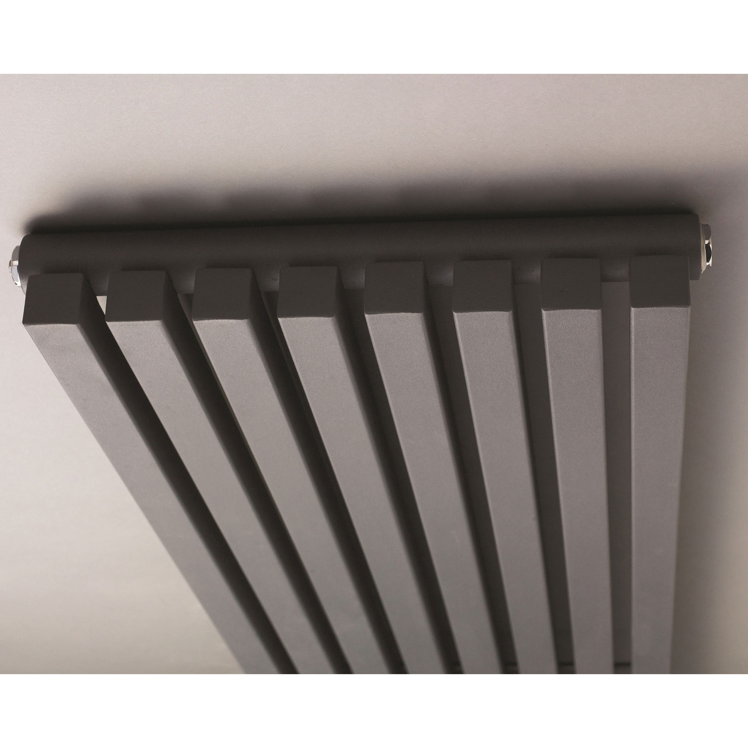 Hudson Reed Kinetic Designer Vertical Radiator 1800mm H x 360mm W Gloss Black